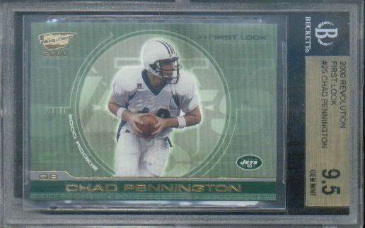 2000 Revolution First Look #25 Chad Pennington Graded Series BGS Grade Gem Mint 9.5