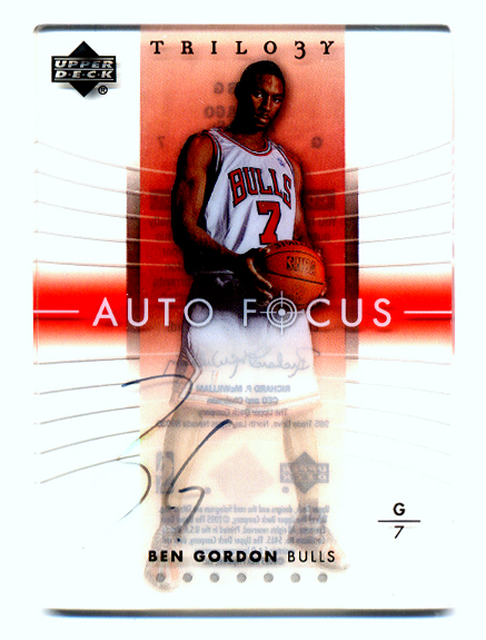 2004-05 Upper Deck Trilogy Auto Focus #BG Ben Gordon