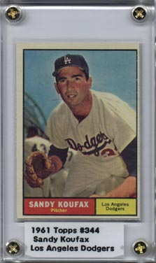 1961 Topps #344 Sandy Koufax NRMT Super Nice! (I)