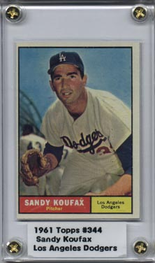 1961 Topps #344 Sandy Koufax NRMT Super Nice! (J)