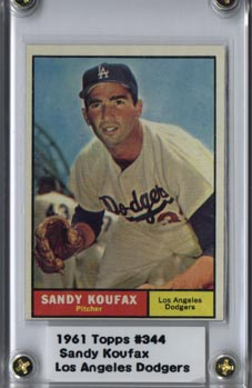 1961 Topps #344 Sandy Koufax NRMT Super - Nice! (K)