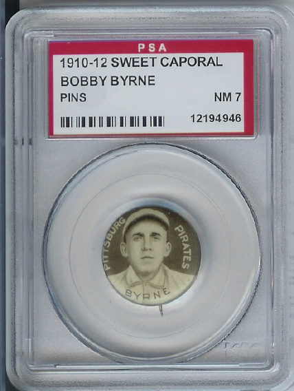 1910-12 Sweet Caporal Pins P2 #21 Bobby Byrne