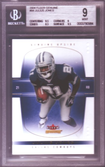 2004 Fleer Genuine #94 Julius Jones RC ROOKIE #251/500 BGS-9.0 MINT Dallas Cowboys