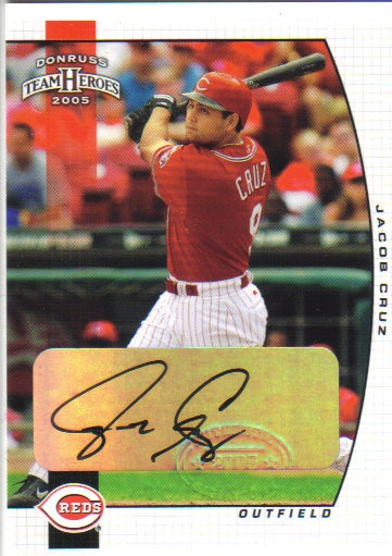 2005 Donruss Team Heroes Autographs #90 Jacob Cruz
