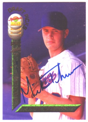 1994 Signature Rookies Draft Picks Signatures #29 Mike Thurman