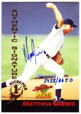 1994 Signature Rookies Signatures #29 Matt Drews