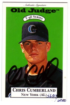 1996 Signature Rookies Old Judge Signatures #8 Chris Cumberland