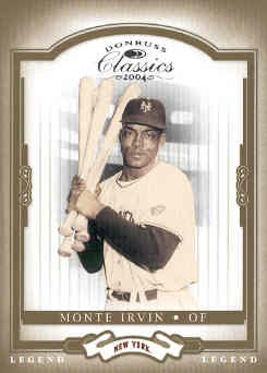 2004 Donruss Classics #166 Monte Irvin LGD front image