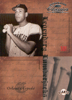 2004 Donruss Classics Legendary Lumberjacks #19 Orlando Cepeda