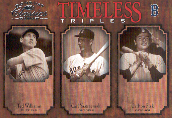 2004 Donruss Classics Timeless Triples #1 T.Williams/Yaz/Fisk