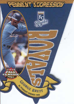 2003 Fleer Fall Classics Pennant Aggression #20 George Brett/1985