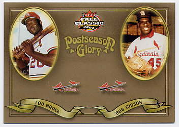2003 Fleer Fall Classics Postseason Glory #18 L.Brock/B.Gibson