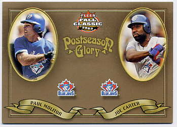 2003 Fleer Fall Classics Postseason Glory #23 J.Carter/P.Molitor