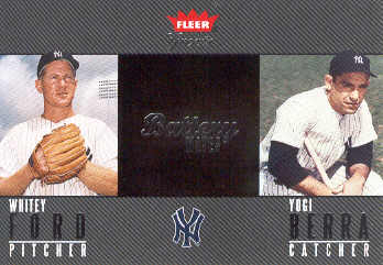 2004 Greats of the Game Battery Mates #4 W.Ford/Y.Berra/1956