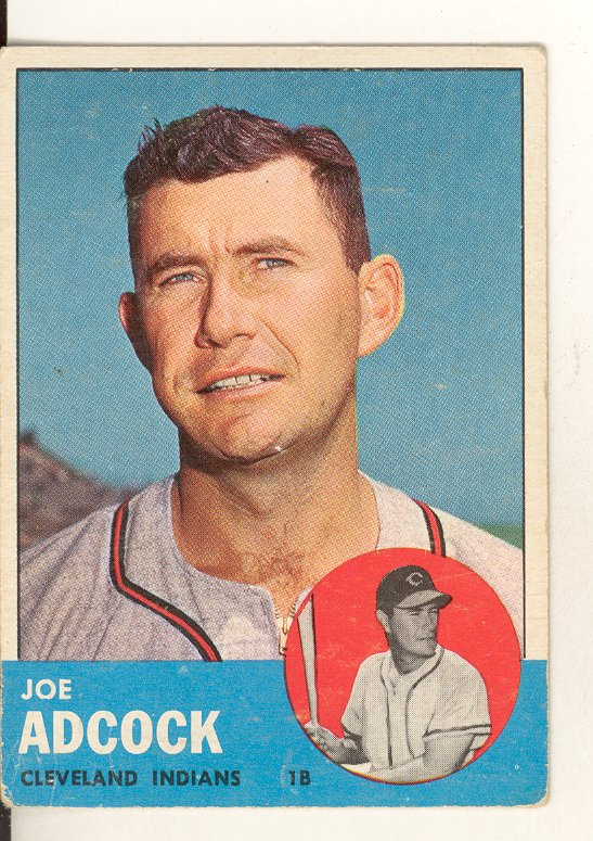 1963 Topps #170 Joe Adcock
