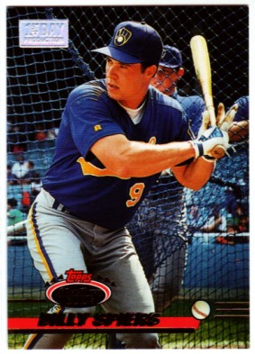 1993 Stadium Club First Day Issue #566 Billy Spiers