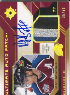2004-05 Ultimate Collection Patch Autographs #UPARB Ray Bourque