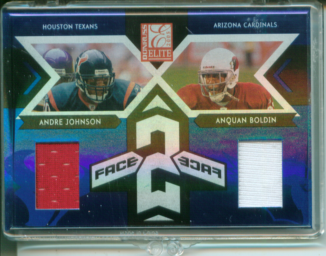 2005 Donruss Elite Face 2 Face Jerseys #CB1 Andre Johnson/Anquan Boldin