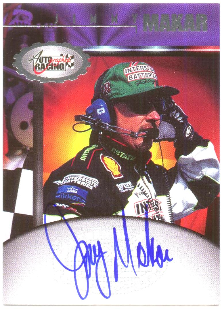 1997 Autographed Racing Autographs #30 Jimmy Makar