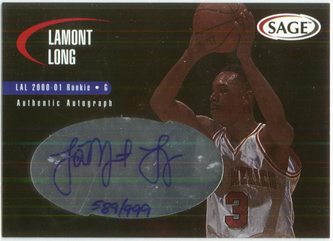 2000 SAGE Autographs #A30 Lamont Long/999