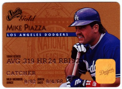 1995 Studio Gold Series #4 Mike Piazza
