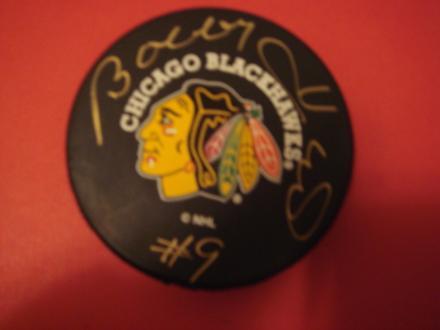 Bobby Hull Autographed Chicago Blackhawks Puck With COA