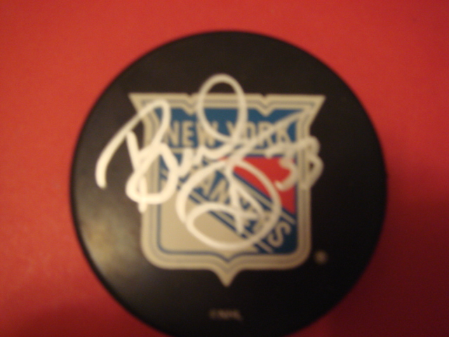 Bruce Driver New York Rangers Hockey Puck With COA