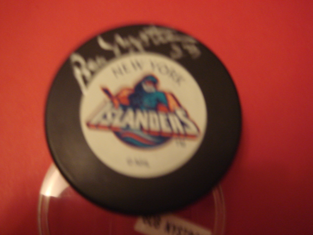 Bobby Nystrom Autographed New York Islanders Fishermans Puck With COA