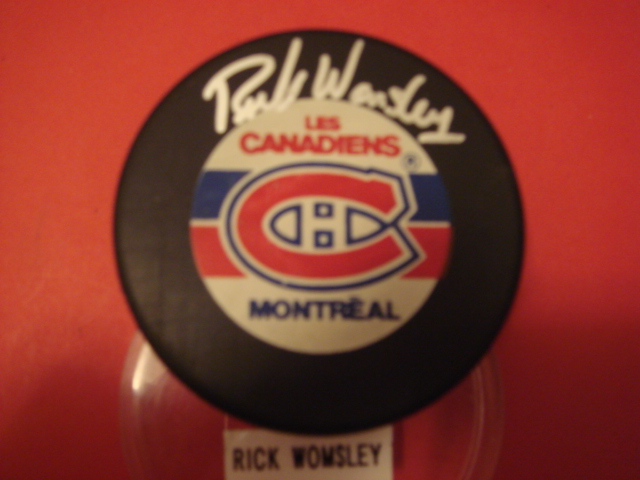 Rick Womsley Montreal Canadiens Autographed Hockey Puck With COA