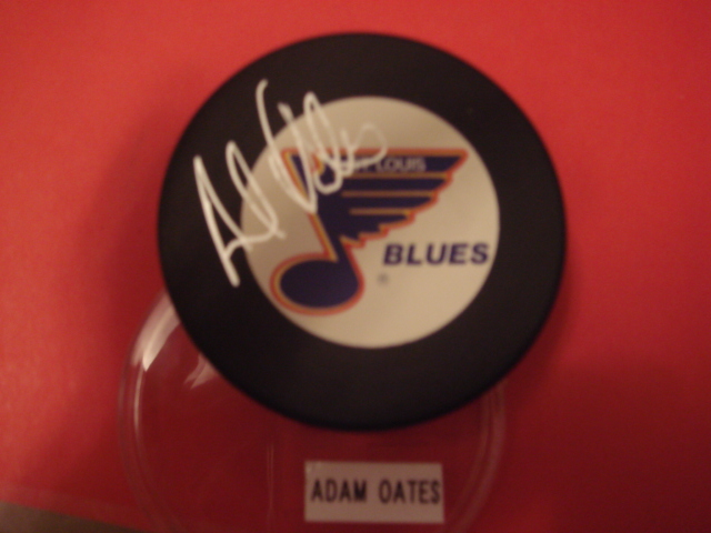 Adam Oates Autographed St. Louis Blues Puck With COA