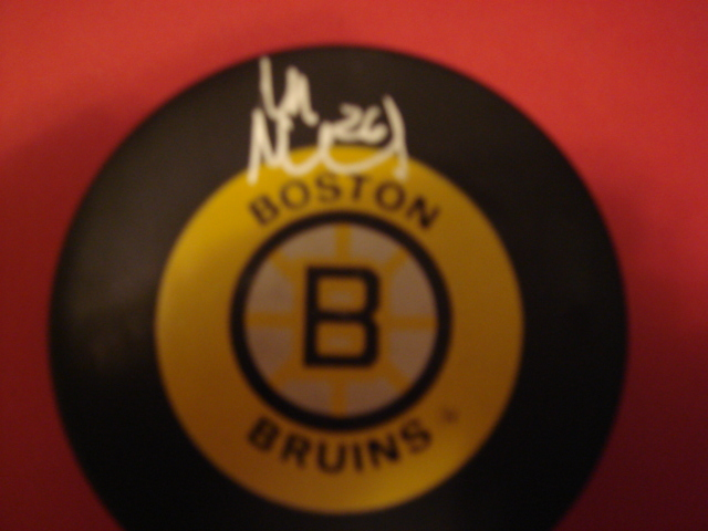 Mats Naslund Autographed Boston Bruins Puck With COA