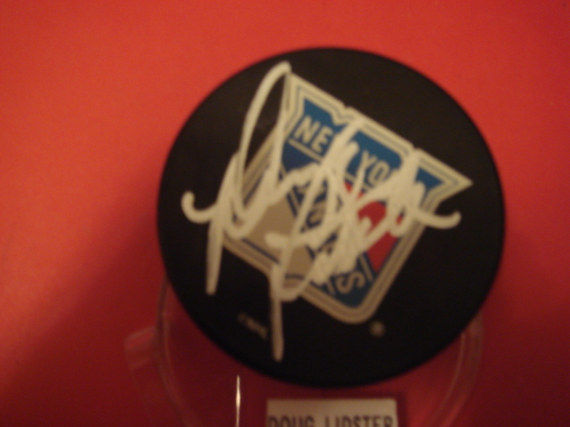 Doug Lidster Autographed New York Ranger Pucks With COA