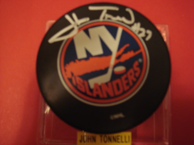 John Tonnelli Autographed New York Islanders Puck with COA