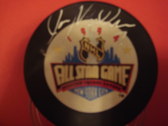 Joe Mullen Autographed 1994 All Star Puck MSG NYC With COA