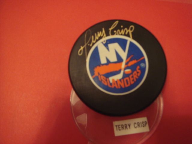 Terry Crisp Autographed New York Islanders Puck With COA