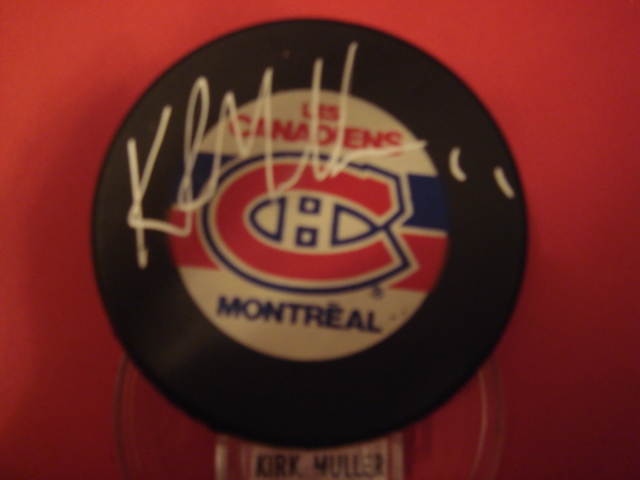 Kirk Muller Autographed Montreal Canadiens Hockey Puck