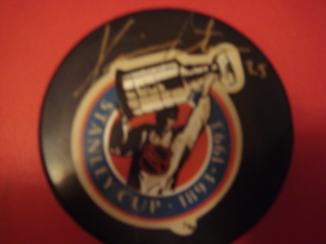 Kevin Stevens Autographed 1993 Stanley Cup Hockey Puck With COA