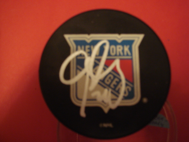 Glen Haley New York Rangers Hockey Puck With COA