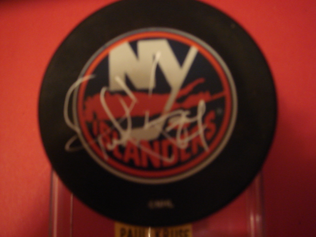 Paul Kruse  Autographed New York Islander Puck With COA