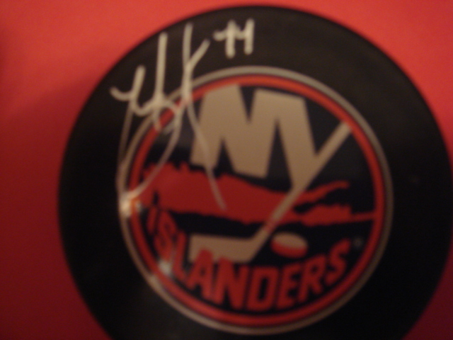 Todd Bertuzzi  Autographed New York Islander Puck With COA
