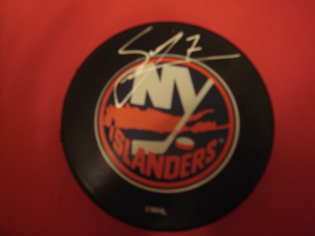 Scott Lachance Autographed New York Islander Puck With COA