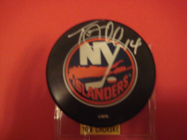 Tom Chorske Autographed New York Islander Puck With COA