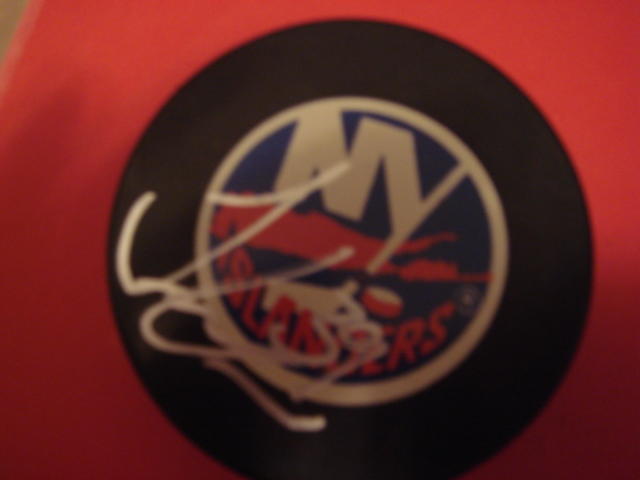 Travis Green Autographed New York Islander Puck With COA