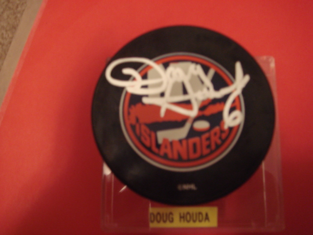 Doug Houda Autographed New York Islander Puck With COA