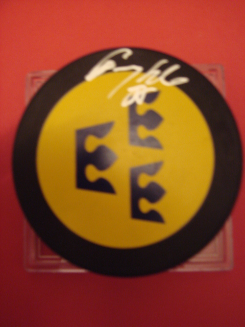 Tommy Salo Autographed Sweeden Puck With COA
