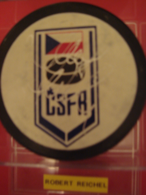 Robert Reichel Autographed CSFR Puck With COA