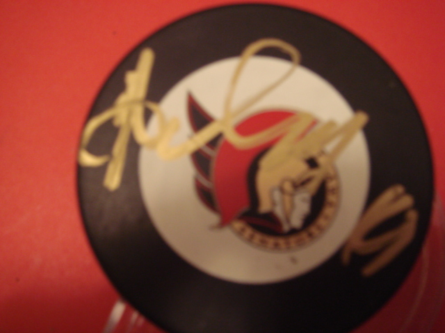 Alexei Yashin Autographed Ottawa Senators Puck With COA