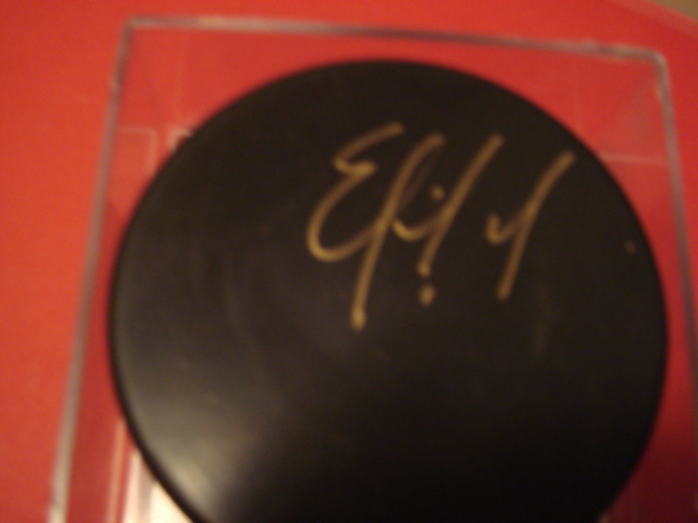 Eric Fichard Autographed Blank Puck with COA