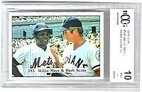 1976 SSPC #595 Willie Mays/Herb Score CL
