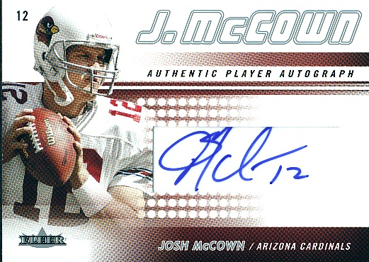 2005 Fleer Authentic Player Autographs #JM2 Josh McCown/150